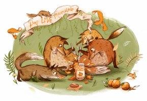 Foxes LOVE marmalade